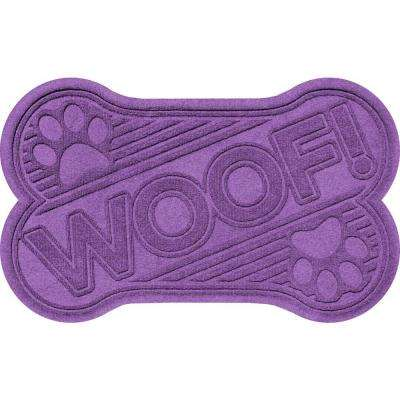 Aqua Shield Purple 24 in. x 36 in. Woof Pet Mat