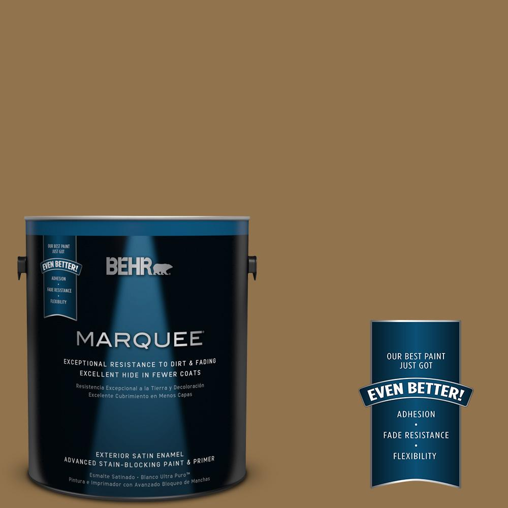 1-gal. #N290-7 Marrakech Brown Satin Enamel Exterior Paint