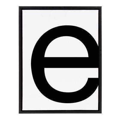 "Sylvie ""Letter E"" Framed Canvas Wall Art"