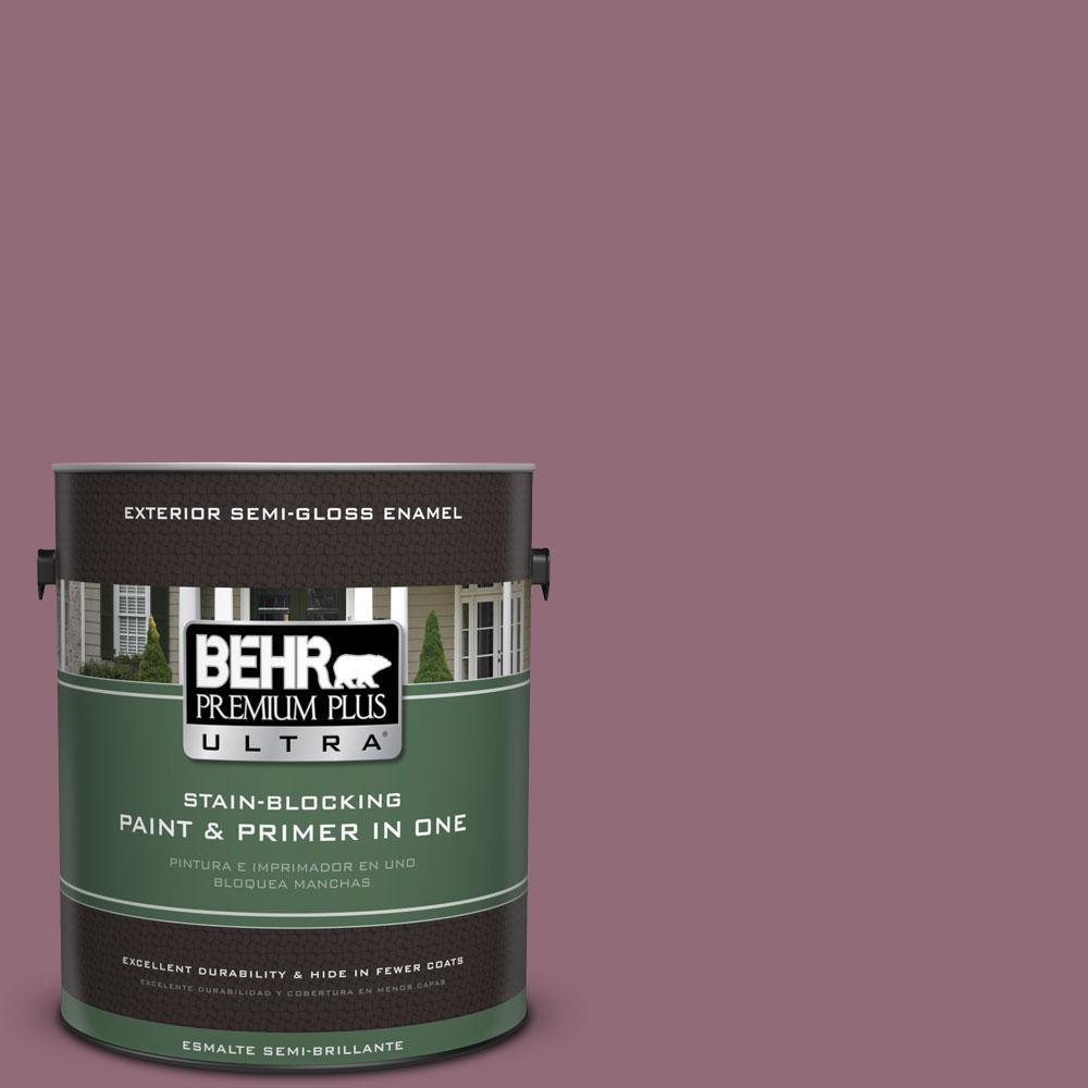 BEHR Premium Plus Ultra 1-gal. #S120-6 Full Glass Semi-Gloss Enamel Exterior Paint