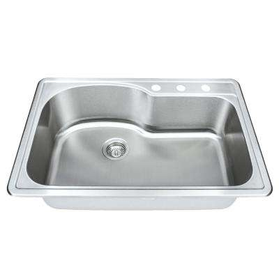 Symphony Series Undermount Stainless Steel 33 in. Single Bowl Kitchen Sink Package