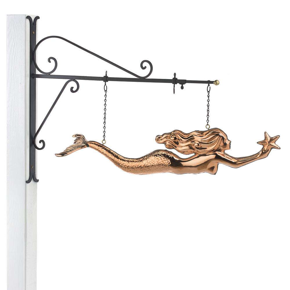Good Directions Mermaid Copper Hanging Wall Sculpture
