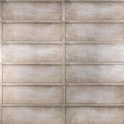 Piston Ribbed Taupe 8 in. x 24 in. x 7mm Polished Ceramic Wall Tile (12 pieces / 15.49 sq. ft. / box)