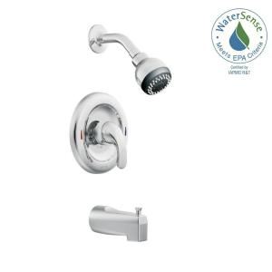 Moen Adler Single-Handle 1-Spray Tub and Shower Faucet with Valve in Chrome (Valve Included) by MOEN