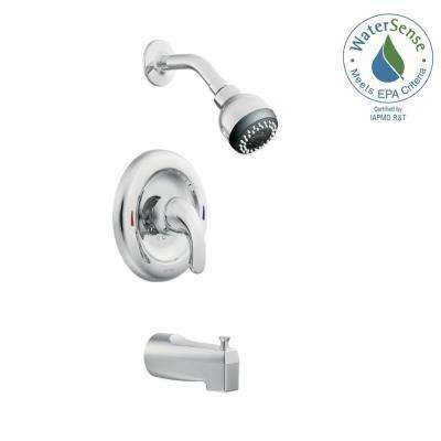 Adler Single-Handle 1-Spray Tub and Shower Faucet with Valve in Chrome