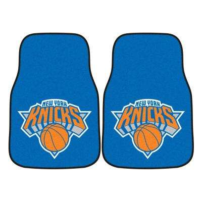 New York Knicks 18 in. x 27 in. 2-Piece Carpeted Car Mat Set