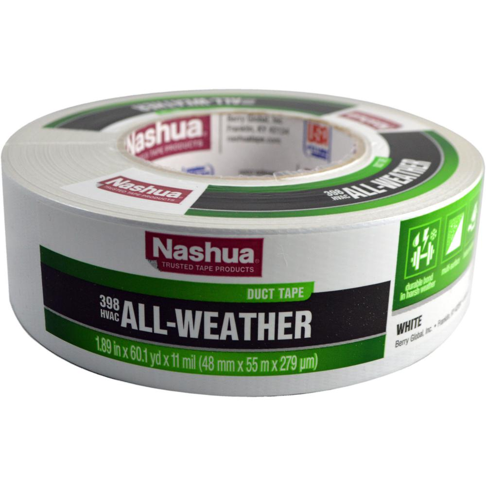 Nashua Tape 1.89 in. x 60 yd. 398 All-Weather HVAC Duct Tape in White