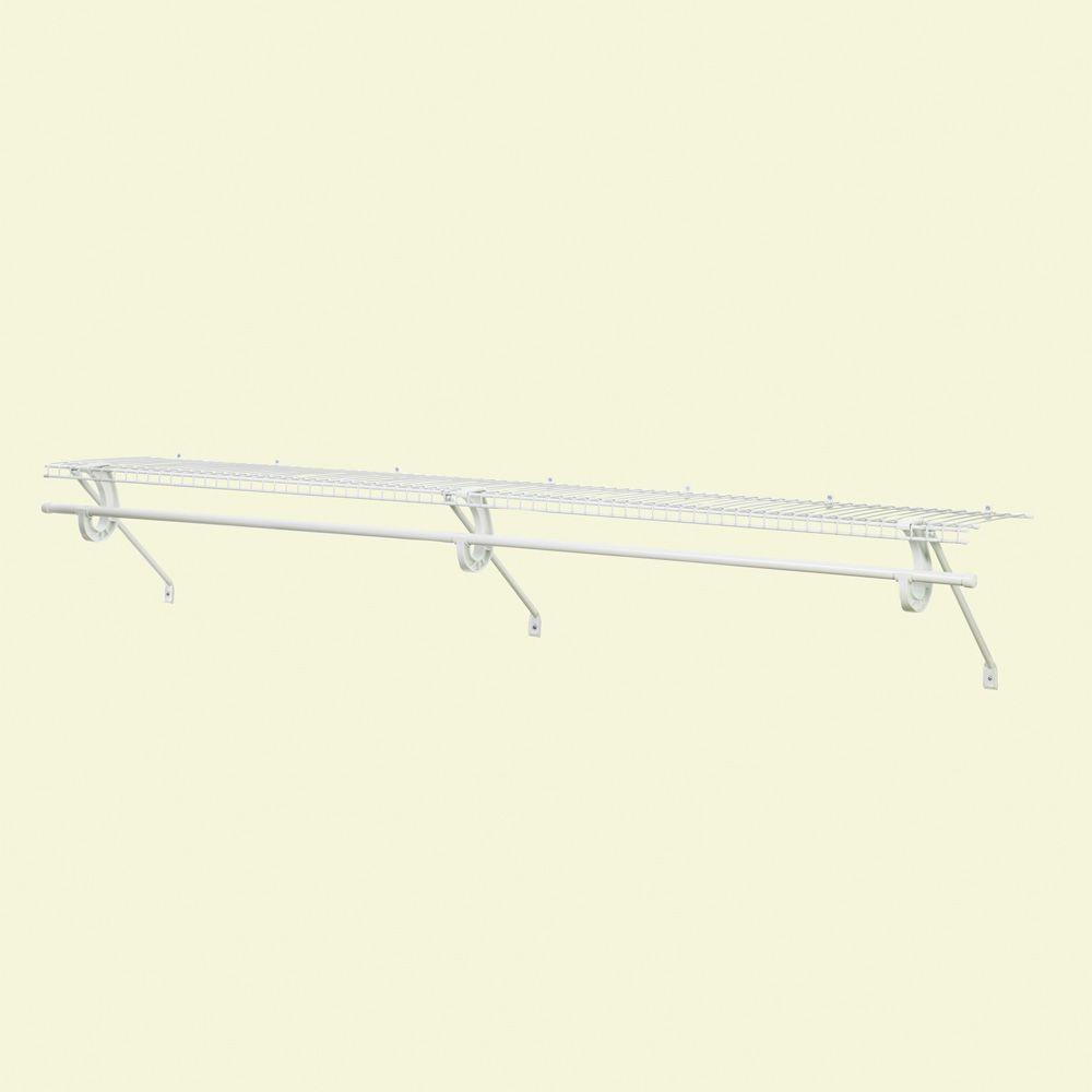 ClosetMaid SuperSlide 48 In. W X 12 In. D Shelf Kit With Closet Rod 5631    The Home Depot