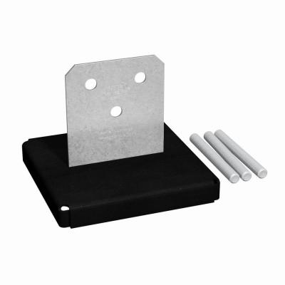 CPTZ ZMAX Galvanized Concealed Post Base for 8x8 Nominal Lumber
