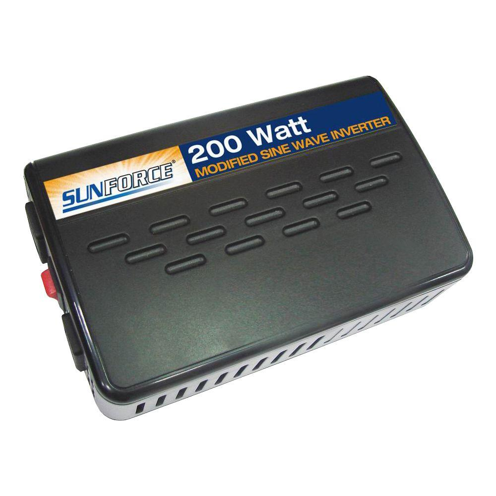 Sunforce 200-Watt Modified Sine Wave Inverter