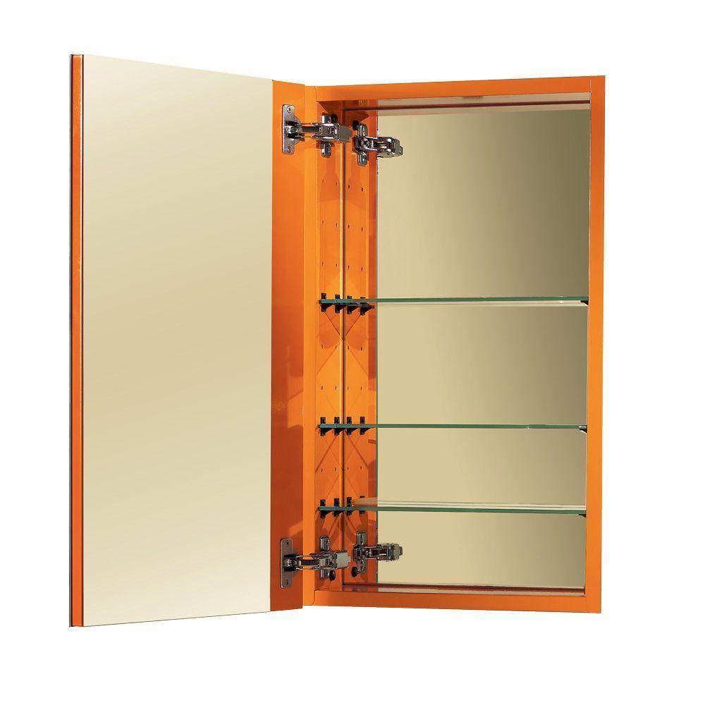 NuTone I Color 15 in. W Recessed Mirrored Medicine Cabinet in Sunburst Orange-DISCONTINUED