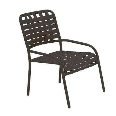 Lido Crossweave Contract Black Nesting Gaming Patio Chair (2-Pack)