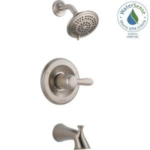 lahara 1handle tub and shower faucet trim kit only in stainless valve not