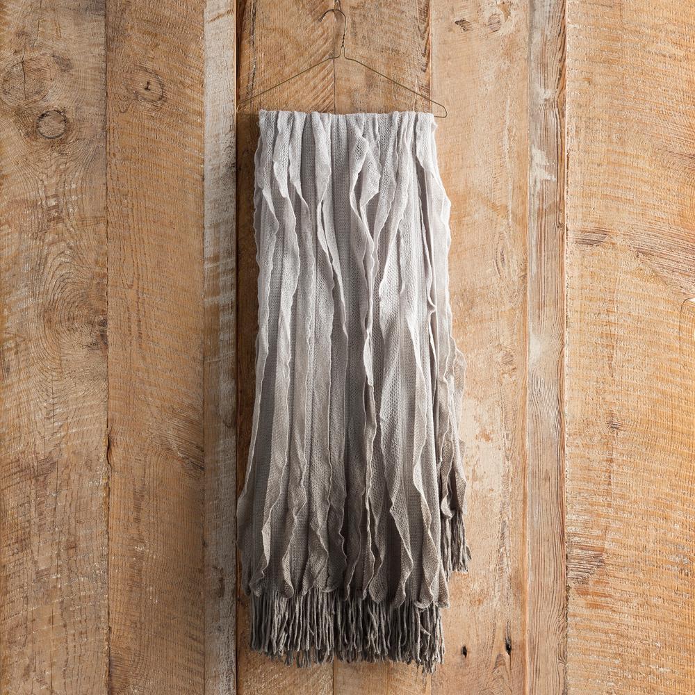 Vivica Light Gray Acrylic Throw