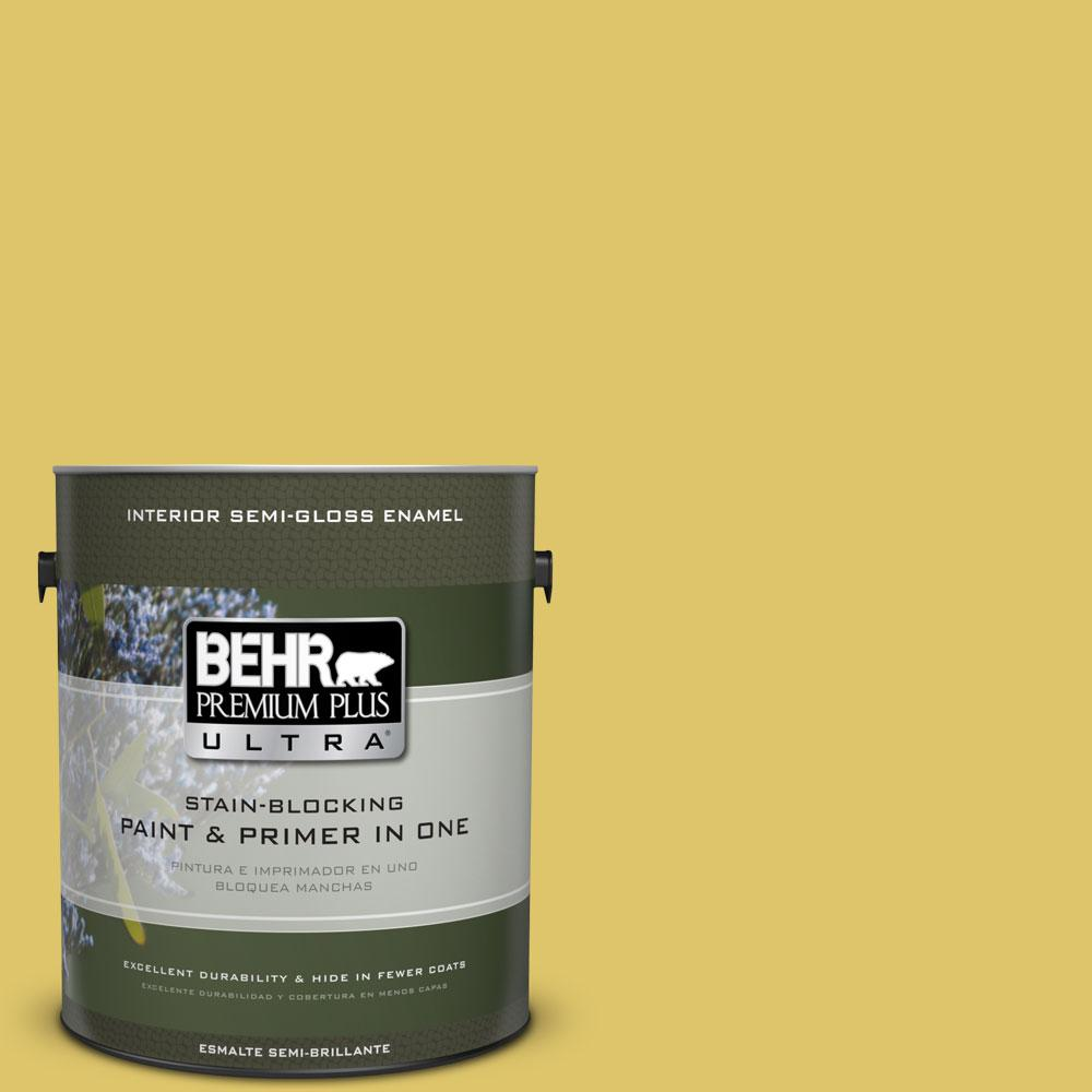 1-gal. #380D-5 California Dreaming Semi-Gloss Enamel Interior Paint
