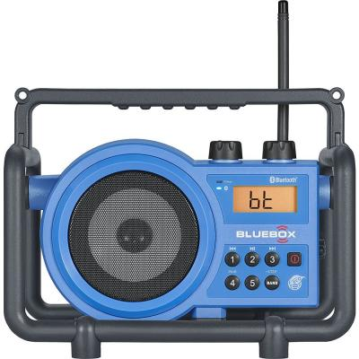 Compact AM/FM/Bluetooth/Aux-In Ultra Rugged Rechargeable Speaker with Digital Tuning Radio
