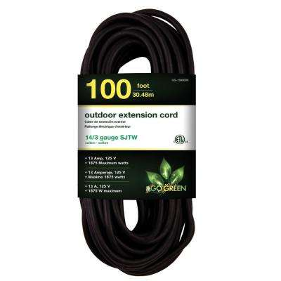 100 ft. 14/3 SJTW Outdoor Extension Cord - Black