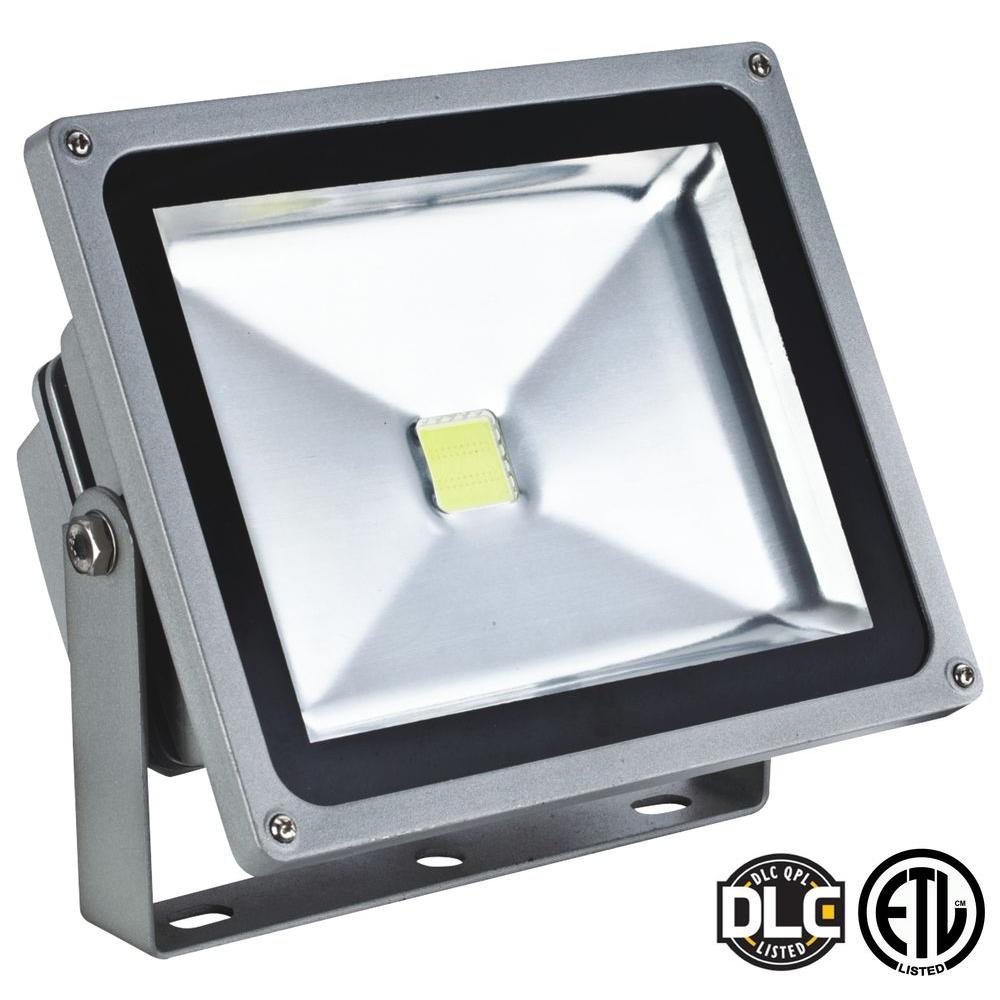 Axis LED Lighting 50-Watt (200-Watt Equivalent) Gray 5000K LED ... for Led Lights For Homes Outdoor 585ifm