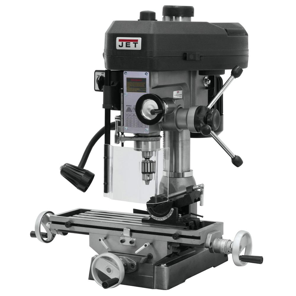 1 HP Milling/Drilling Machine with R8 Taper and Worklight, 12-Speed, 115-Volt,