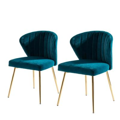 Milia Teal Tufted Dining Chair (Set of 2)