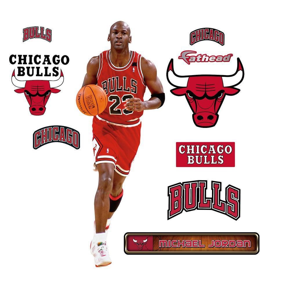 38 in. H x 15 in. W Michael Jordan - Fathead Jr Wall Mural