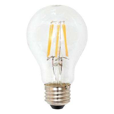 40W Equivalent Soft White Classic Glass A19 Dimmable Filament LED Light Bulb (3-Pack)