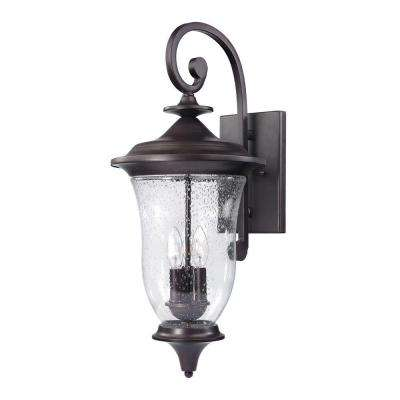 Trinity 3-Light Outdoor Oil Rubbed Bronze Sconce