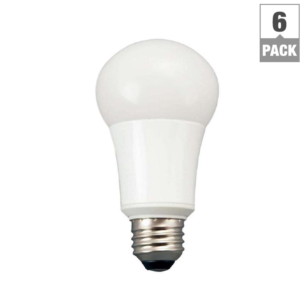 TCP 60W Equivalent Daylight A19 Non Dimmable LED Light Bulb (6-Pack)