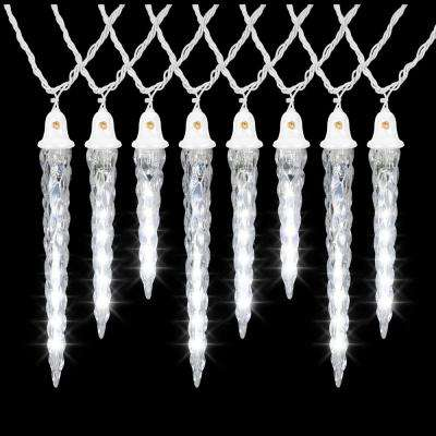 11 In To 9 In 7 In To 8 In White Christmas Shooting Star Light String Icicle Bulbs