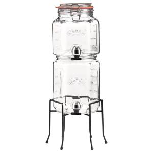 .55 - .82 Gal. Stackable Glass Jar Set with Taps and Stand