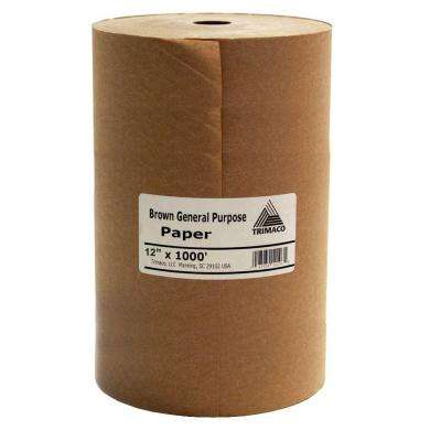 Trimaco Easy Mask 12 in. X 1000 ft. Brown General Purpose Paper