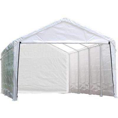 12 ft. W x 30 ft. H Enclosure Kit for SuperMax Canopy in White w/ 100% Waterproof Seams (Canopy and Frame Not Included)