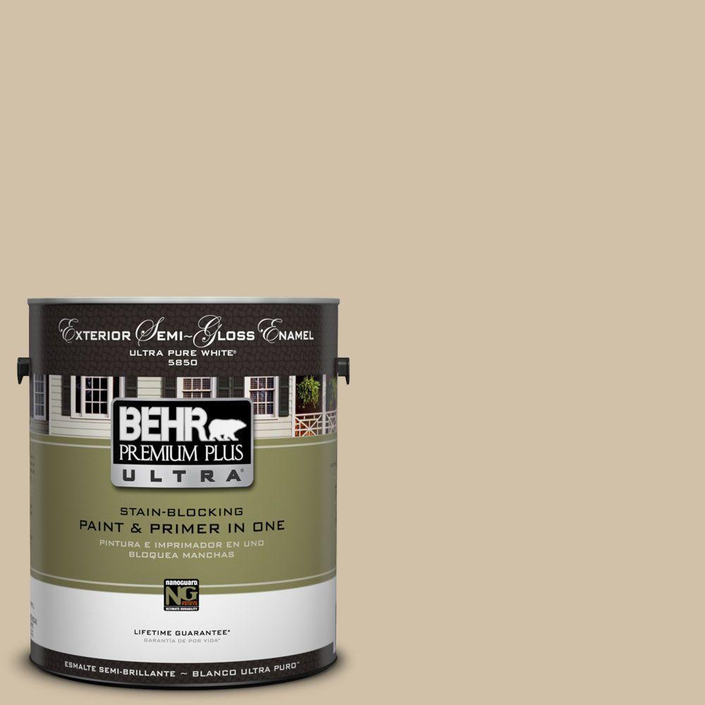 BEHR Premium Plus Ultra 1-Gal. #UL160-17 Baja Semi-Gloss Enamel Exterior Paint