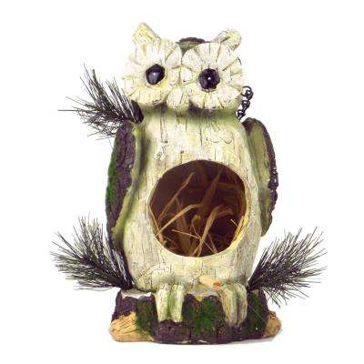 Natural Owl Birdhouse