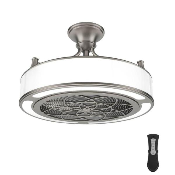 Anderson 22 in. LED Indoor/Outdoor Brushed Nickel Ceiling Fan with Remote Control