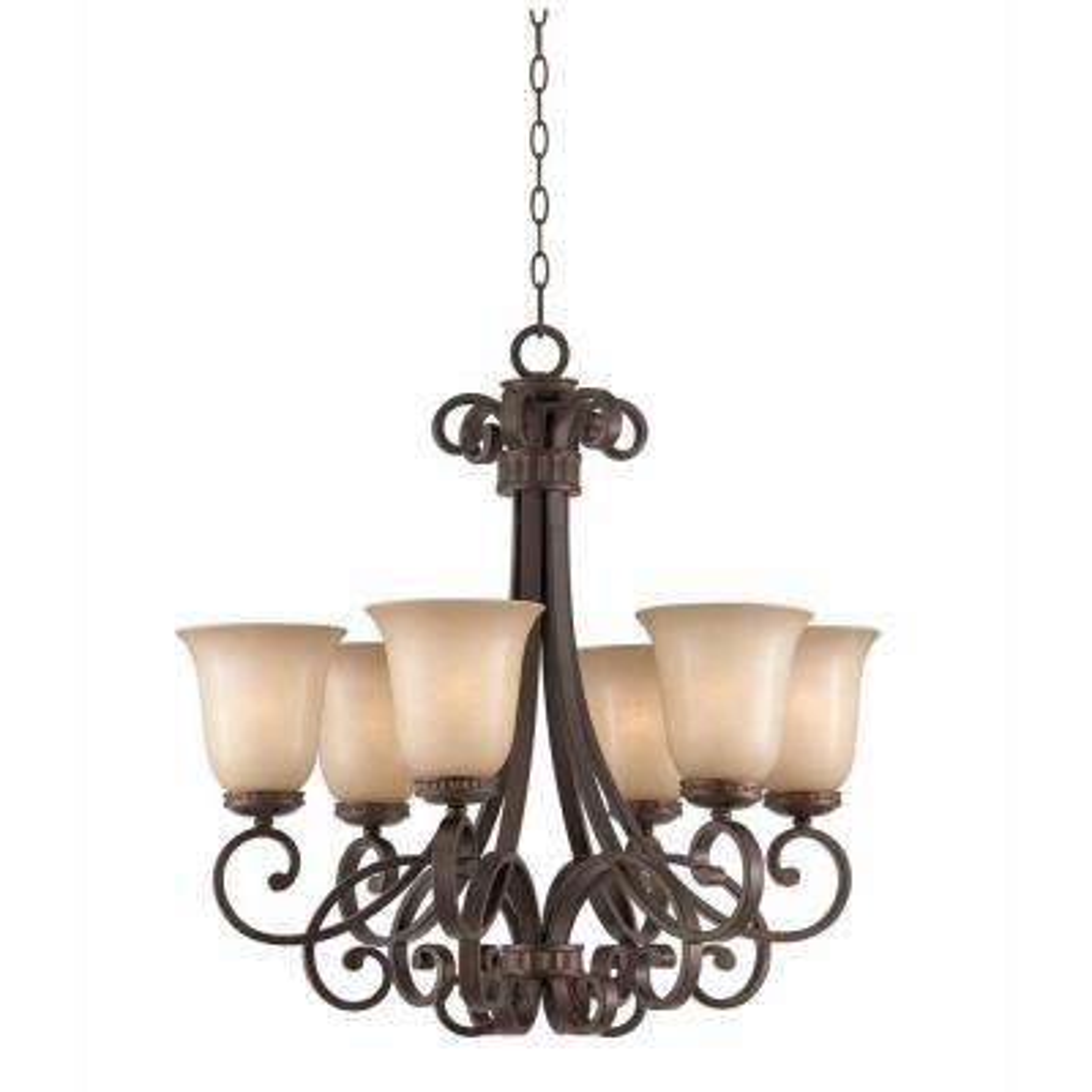 Charry 6-Light Bronze Chandelier  sc 1 st  Home Depot & Filament Design - Chandeliers - Lighting - The Home Depot azcodes.com