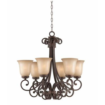 Charry 6-Light Bronze Chandelier