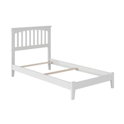 Mission Twin Traditional Bed in White