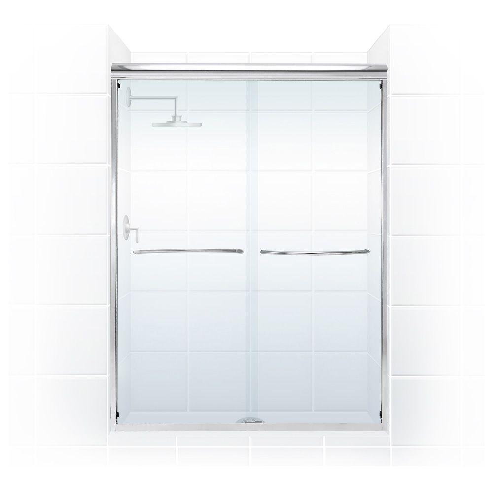 Paragon 3/8 Series 60 in. x 66 in. Semi-Framed Sliding Shower