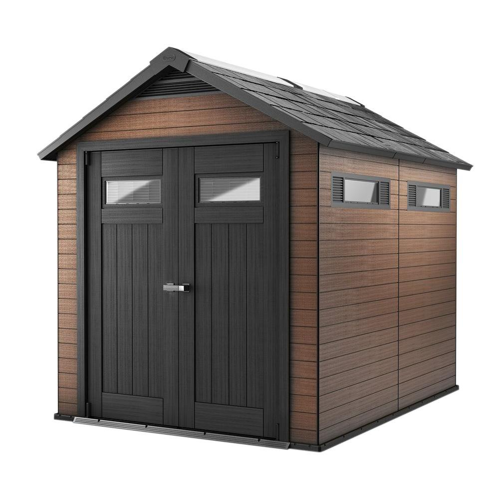 Charmant Keter Fusion 7.5 Ft. X 9 Ft. Wood And Plastic Composite Shed 224449   The  Home Depot