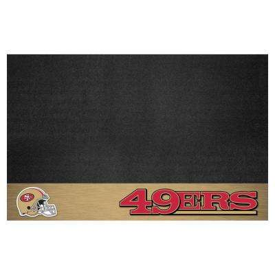 San Francisco 49ers 26 in. x 42 in. Grill Mat