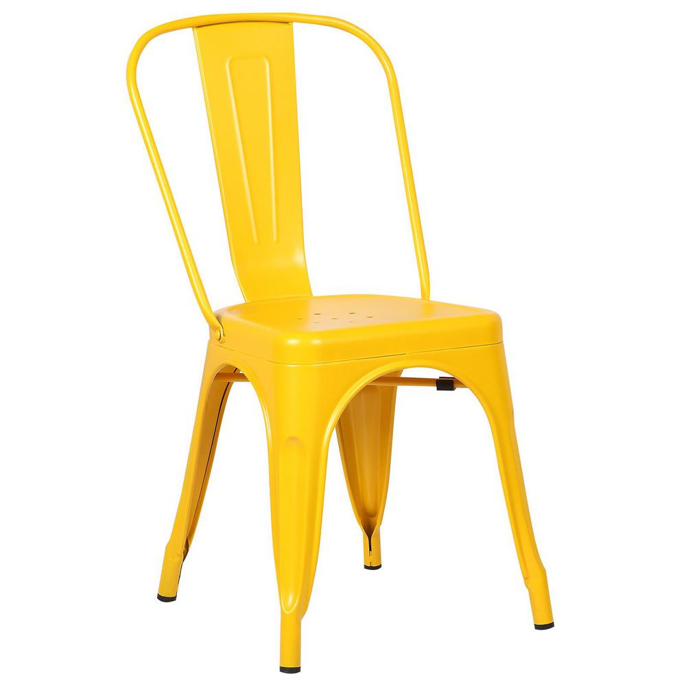 Poly and Bark Trattoria Yellow Side Chair
