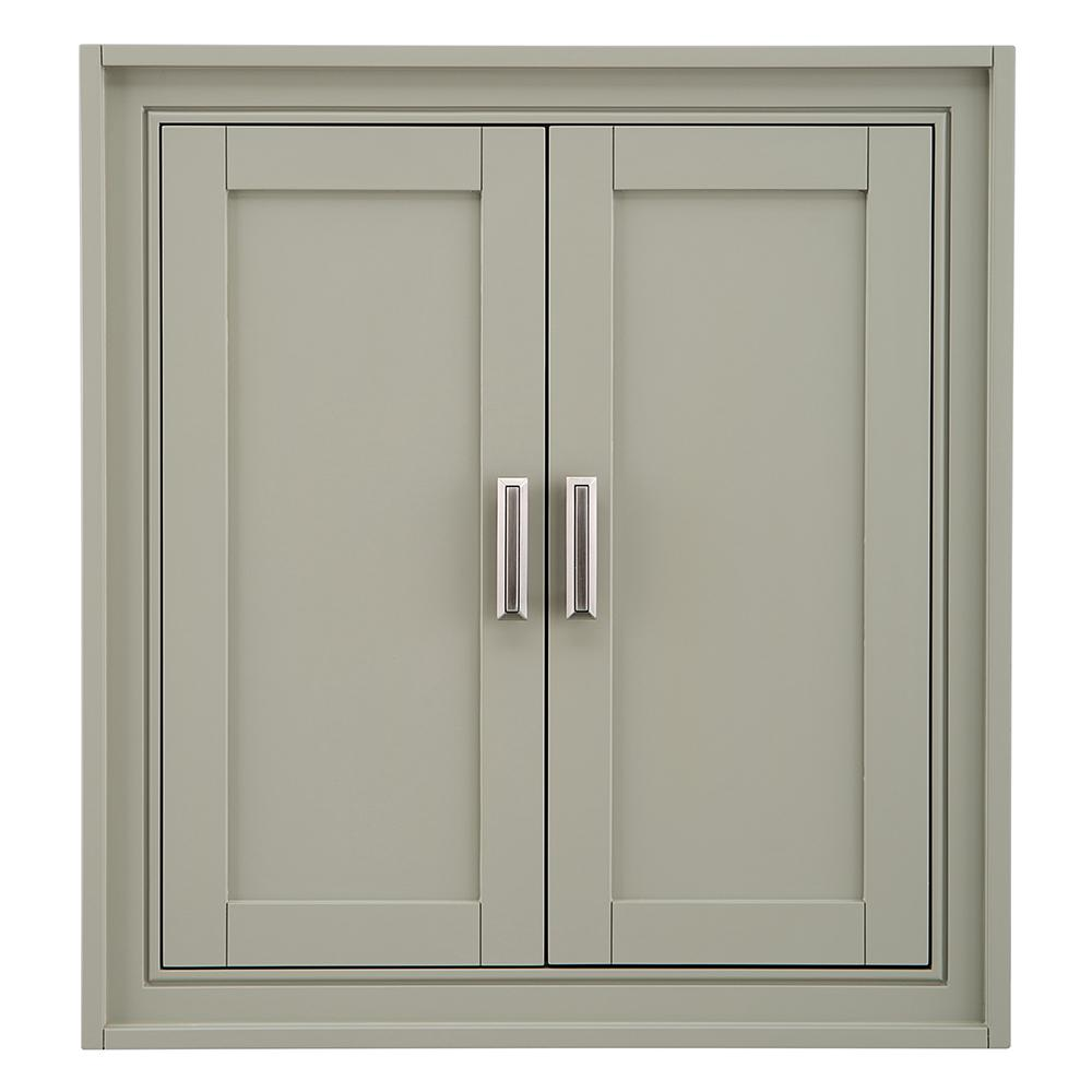 Small Bathroom Wall Cabinet.Home Decorators Collection Shaelyn 26 In W X 28 In H Wall Cabinet In Sage Green