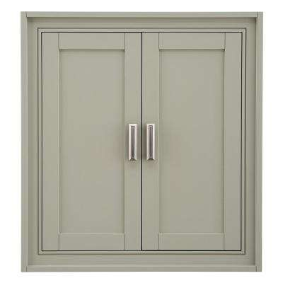 Shaelyn 26 in. W x 28 in. H Wall Cabinet in Sage Green