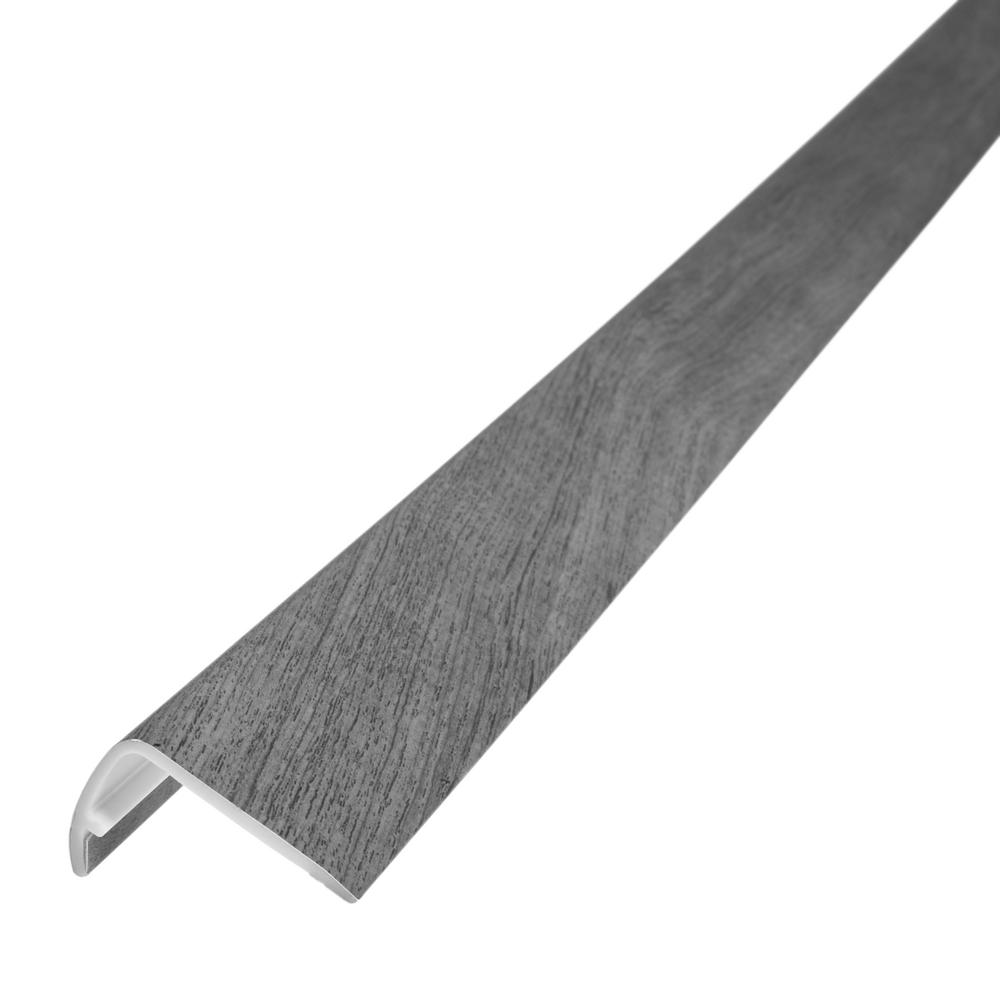 "Earthy Pine Shaw VSST6-BR.Int 94/""L Vinyl Flooring Overlap Stair Nose Sold"