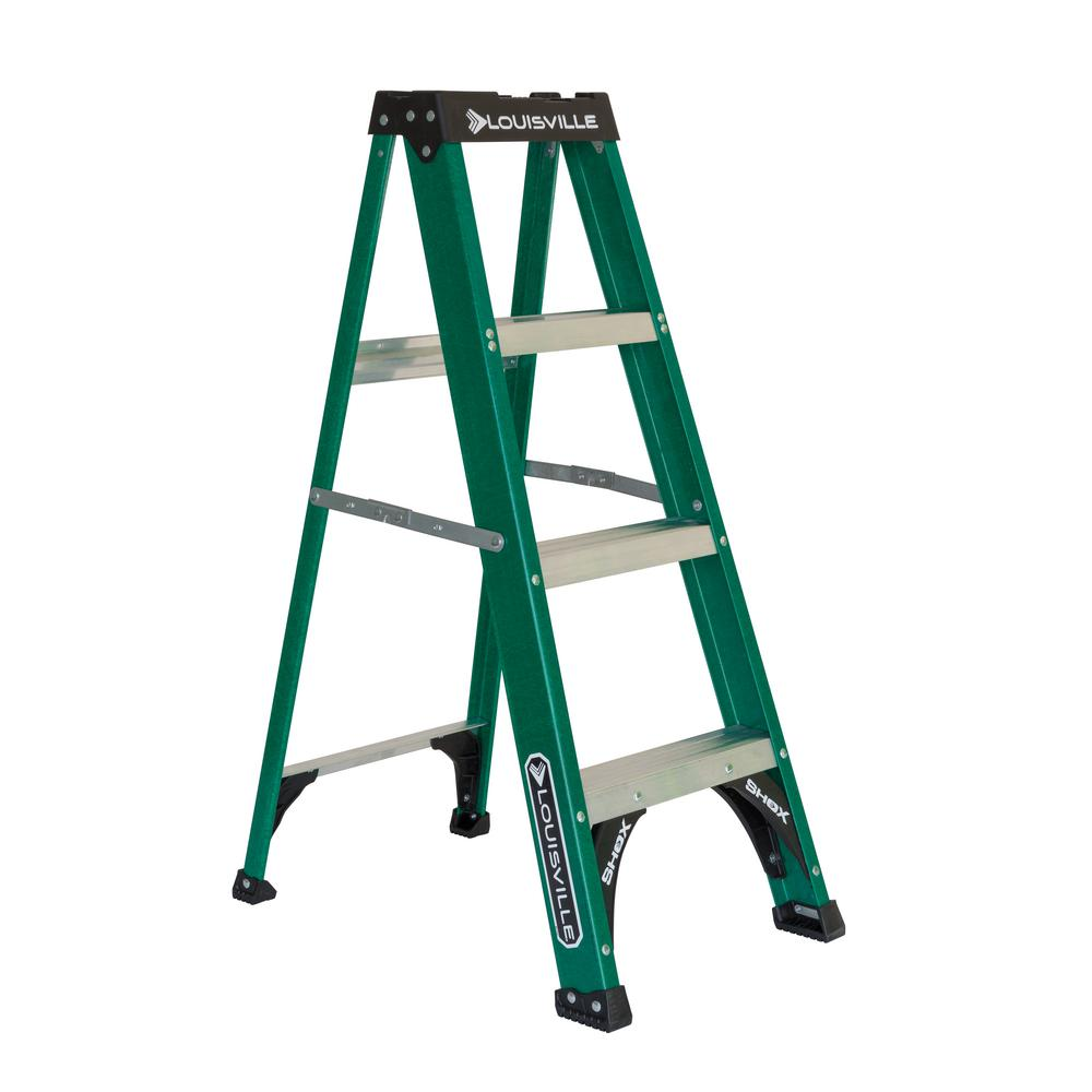 4 ft. Fiberglass Step Ladder with 225 lbs. Load Capacity Type