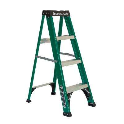4 ft. Fiberglass Step Ladder with 225 lbs. Load Capacity Type 2 Duty Rating