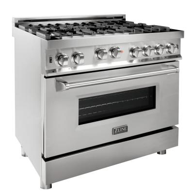 ZLINE 36 in. Professional 4.6 cu. ft. 6 Gas on Gas Range in Stainless Steel (RG36)