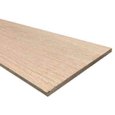1/4 in. x 6 in. x 4 ft. Hobby Board Kiln Dried S4S Oak Board (20-Piece)