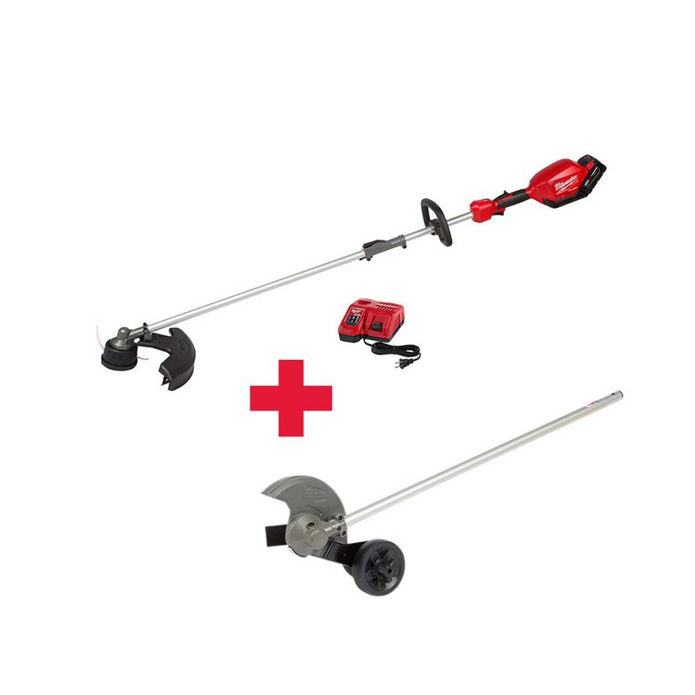 Milwaukee M18 FUEL 18-Volt Lithium-Ion Brushless Cordless String Trimmer Kit with M18 FUEL Edger Attachment